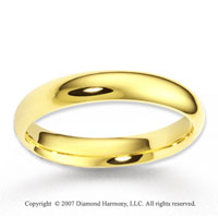 14k Yellow Gold Great Harmony Fashionable Wedding Band