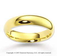 14k Yellow Gold Great Harmony Fine Fashion Wedding Band