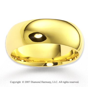 14k Yellow Gold Grand Harmony Fine Fashion Wedding Band