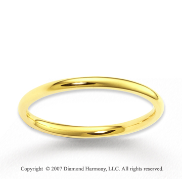 14k Yellow Gold Love Everlasting Fine Wedding Band