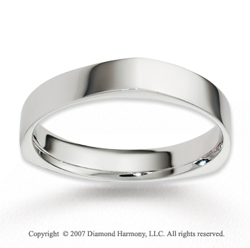 14k White Gold Forever Harmony Stylish Wedding Band