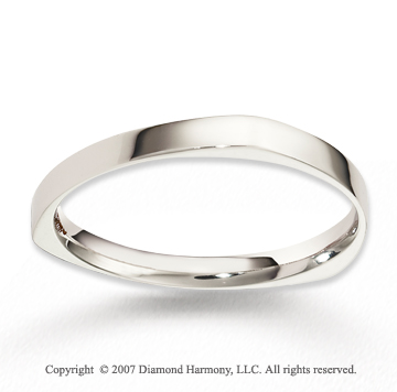 14k White Gold Forever Harmony Fashion Wedding Band