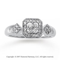 1/3 Carat Diamond 14k White Gold Grand Royal Prong Ring
