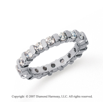 1 1/2 Carat Diamond Platinum Eternity round bar band.