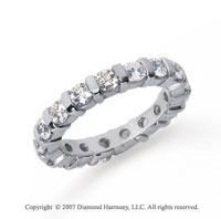 2 Carat Diamond Platinum Eternity round bar band.