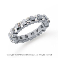 2 1/2 Carat Diamond Platinum Eternity round bar band.