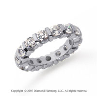 3 Carat Diamond Platinum Eternity round bar band.