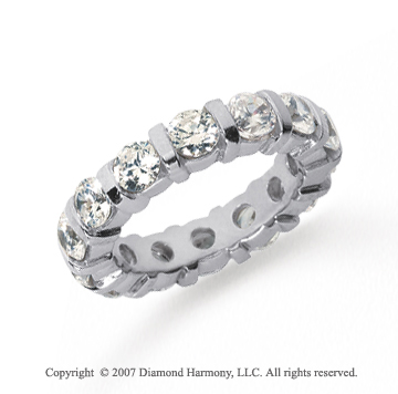 4 Carat Diamond Platinum Eternity round bar band.