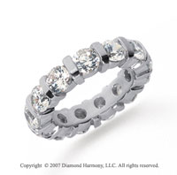 5 Carat Diamond Platinum Eternity round bar band.