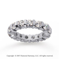 3 Carat Diamond 14k White Gold Eternity round bar band.