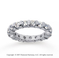 2 Carat Diamond 18k White Gold Eternity round bar band.