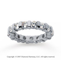 2 1/2 Carat Diamond 18k White Gold Eternity round bar band.