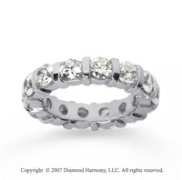 4 Carat Diamond 18k White Gold Eternity round bar band.