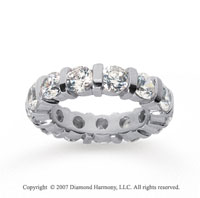 5 Carat Diamond 18k White Gold Eternity round bar band.