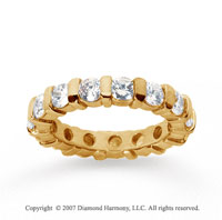 2 1/2 Carat Diamond 14k Yellow Gold Eternity round bar band.