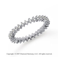 3/5 Carat Diamond Platinum Eternity Round Open prong band