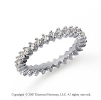 1.00 Carat Diamond Platinum Eternity Round Open prong band