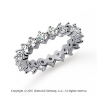 2 Carat Diamond Platinum Eternity Round Open prong band