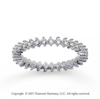 3/5  Carat Diamond 14k White Gold Eternity Round Open prong band