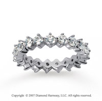 2 Carat Diamond 14k White Gold Eternity Round Open prong band