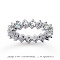 2 1/2  Carat Diamond 14k White Gold Eternity Round Open prong band