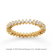 3/5  Carat Diamond 14k Yellow Gold Eternity Round Open prong band