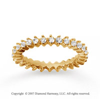 1.00  Carat Diamond 14k Yellow Gold Eternity Round Open prong band