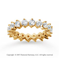 2 1/2  Carat Diamond 14k Yellow Gold Eternity Round Open prong band