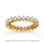 1 1/2  Carat Diamond 18k Y Gold Eternity Round Open prong band