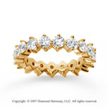 2 1/2  Carat Diamond 18k Y Gold Eternity Round Open prong band