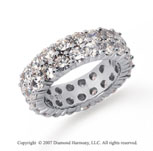 3 1/2  Carat Diamond Platinum Eternity Two Row Eternity Band