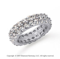 4 1/2  Carat Diamond Platinum Eternity Round Eternity Band