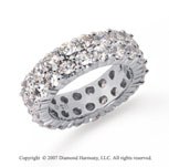 5 1/2 Carat Diamond Platinum Eternity Round Eternity Band