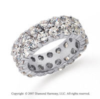 6 1/2 Carat Diamond Platinum Eternity Round Eternity Band