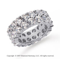 8 1/2  Carat Diamond Platinum Eternity Round Eternity Band