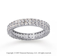 1 1/2  Carat Diamond 14k White Gold Eternity 2 Row Eternity Band