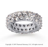3 1/2  Carat Diamond 14k White Gold Eternity Two Row Eternity Band