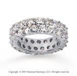 5 1/2  Carat Diamond 14k White Gold Eternity Two Row Eternity Band