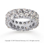 6 1/2  Carat Diamond 14k White Gold Eternity Two Row Eternity Band