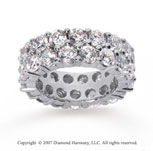 8 1/2  Carat Diamond 14k White Gold Eternity Two Row Eternity Band
