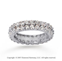 2 1/2  Carat Diamond 18k W Gold Eternity Two Row Eternity Band