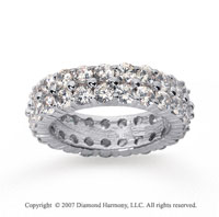 4 1/2  Carat Diamond 18k W Gold Eternity 2 Row Eternity Band