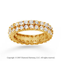 2 1/2  Carat Diamond 14k Yellow Gold Eternity Two Row Eternity Band