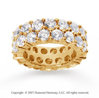8 1/2  Carat Diamond 14k Yellow Gold Eternity Two Row Eternity Band