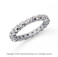 1 Carat Diamond Platinum Eternity round bar band.