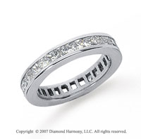1 1/2 Carat Diamond Platinum Princess Eternity Band