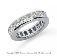 2 1/2 Carat Diamond Platinum Princess Eternity Band