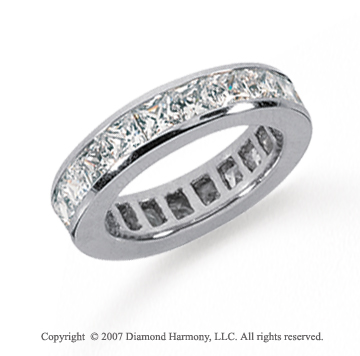 3 1/2 Carat Diamond Platinum Princess Eternity Band