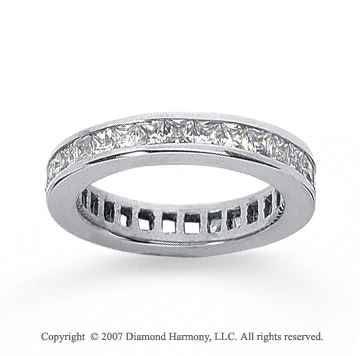 3/4 Carat Diamond 14k White Gold Princess Eternity Band