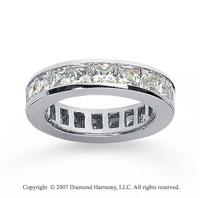 2 Carat Diamond 14k White Gold Princess Eternity Band